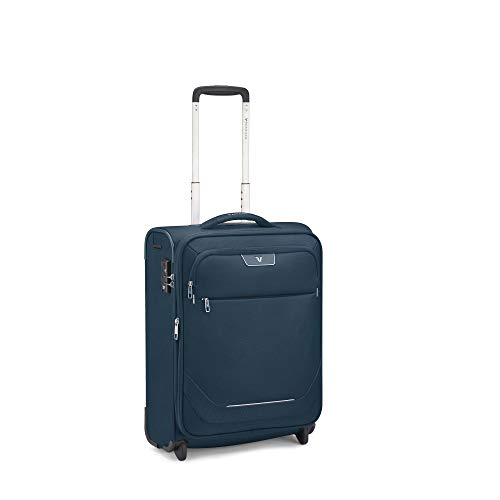 Roncato Joy Maleta Cabina avión Expansible Azul, Medida: 55 x 40 x 20/23 cm, Capacidad: 42/48 l,...