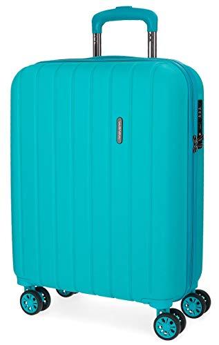 Movom Wood Maleta de cabina Azul 40x55x20 cms Rígida ABS Cierre TSA 38L 2,9Kgs 4 Ruedas Dobles...
