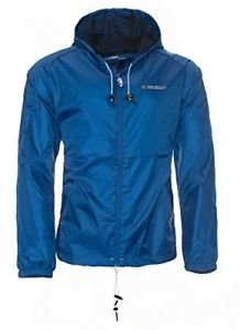 Geographical Norway Chaqueta impermeable para hombre (Azul, S)