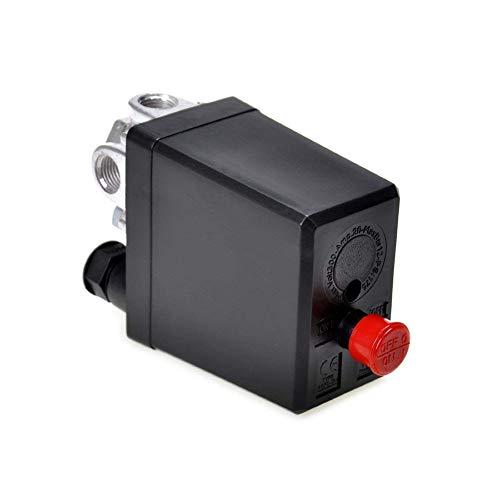 Ndier Regulador del compresor de aire de repuesto Manómetros monofásico Válvula de seguridad...