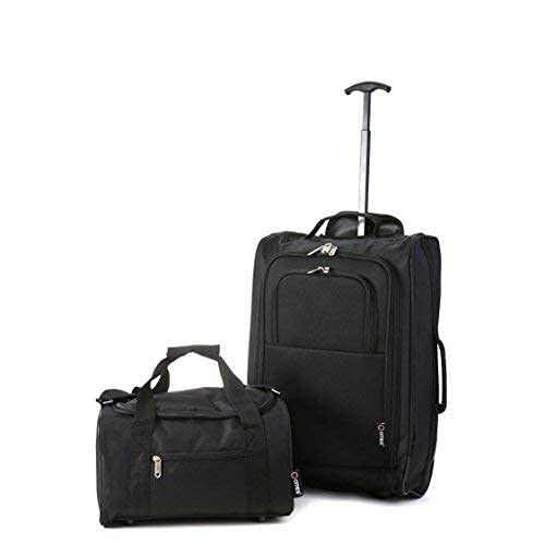 5 Cities Ryanair Cabin Approved Main & Second Hand Luggage Set - Carry On Both! Equipaje de mano,...