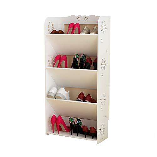 Estante de Zapatos Simple Shoe Rack 4 Layer Economy Home Shoe Cabinet multifunción Ahorro de...