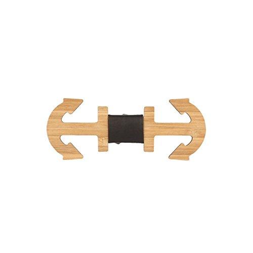 Pajarita de madera con forma
