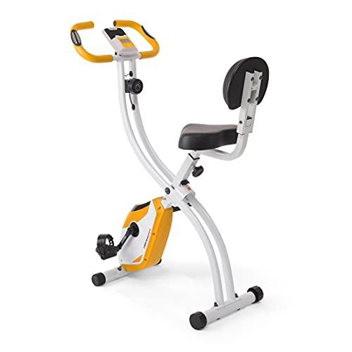 Ultrasport - Bicicleta estática F-Bike 200B con respaldo, bicicleta fitness, naranja