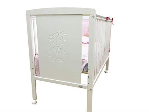 Cuna para bebé, modelo Oso Dormilón Mundi Bebé + Colchón Viscoelástica + Protector de colchón...