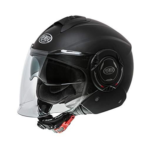 Casco de Moto Premier Cool U9Bm Negro Mat, Negro, L