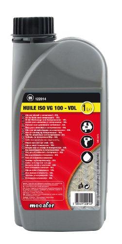 Mecafer 122014 Aceite para compresor y herramientas neumáticas (1 L), negro
