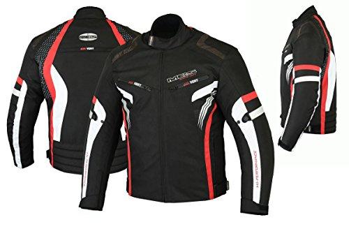 MBSmoto MJ22 Max Motorcycle Motorbike Short Textile Chaqueta deportiva (rojo, 3XL)