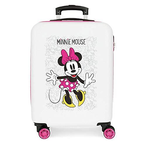 Disney Minnie Enjoy the Day Maleta de cabina Blanco 40x55x20 cms Rígida ABS Cierre combinación 34L...