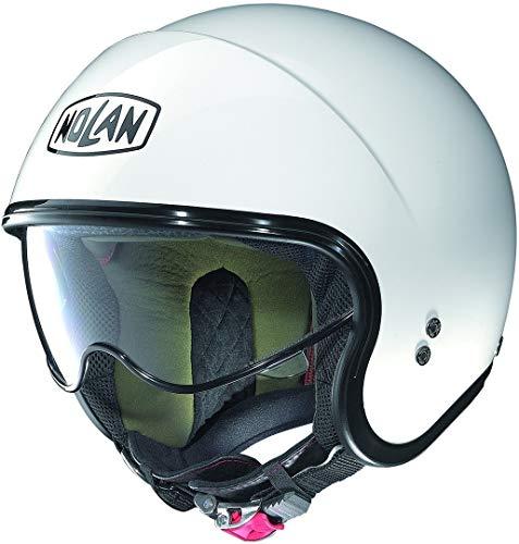 Nolan N21 Classic–Casco Abierto para Moto, Color Blanco, Talla L (59/60)