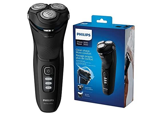 Philips Serie 3000 S3233/52 - Afeitadora eléctrica, cabezales pivotantes y flexibles 5D,...