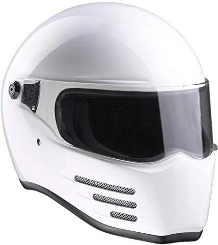 Bandit - Casco de combate para Streetfighter, Mad Max, fibra de vidrio, color: blanco; Talla: M...