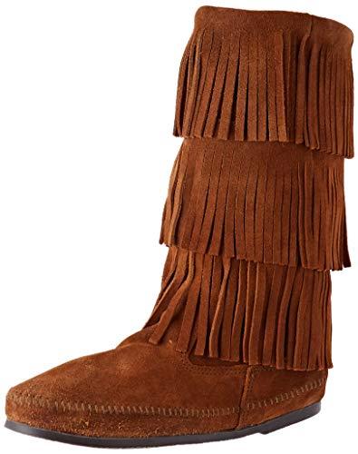 Minnetonka Calf Hi 3-Layer Boot, Botas Mujer, Brown, 40