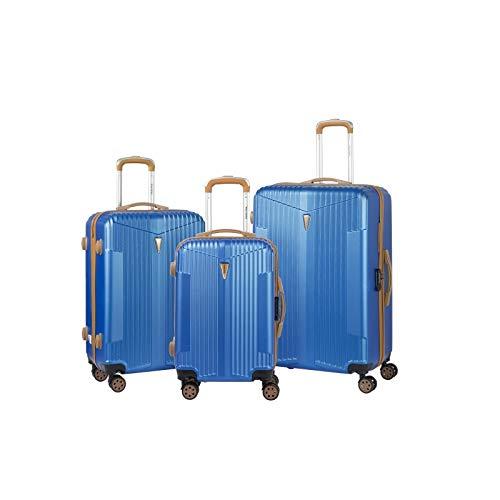 Murano – Juego de 3 maletas, 2 tamaños y 1 cabina – equipaje rígido ABS – azul marino –...