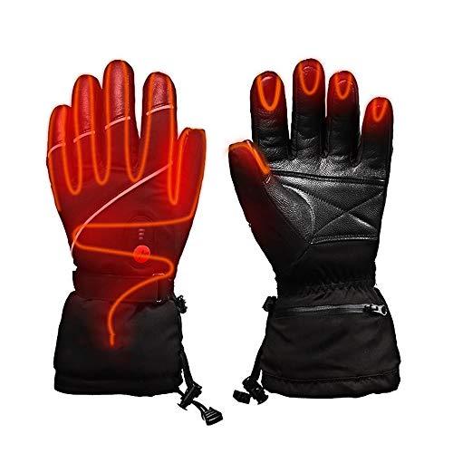 WMG&BB Guantes calefactables, Guantes eléctricos de batería de Litio Recargable, Pesca, esquí,...