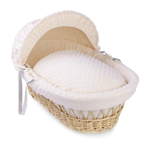 Clair de Lune Dimple–Cesto de mimbre Natural (color blanco) blanco crema