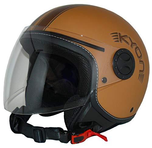Protectwear Casco abierto con facial con visera larga H710-BR-M