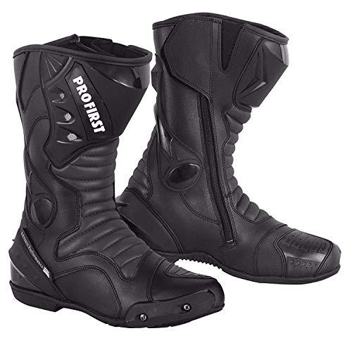 Botas de cuero partido de ProFirst para motocicleta, con protección, antideslizantes, impermeables,...