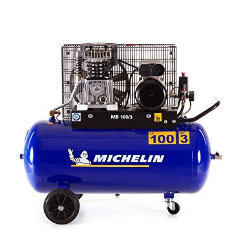 MICHELIN - Compresor de aire MB100/3 - Tanque de 100 litros - Motor de 3 hp - Presión máxima 10...