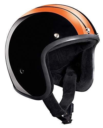 Bandit - Casco semi-integral para moto con visera parasol - Modelo: Race Jet, Hombre, Race Jet,...