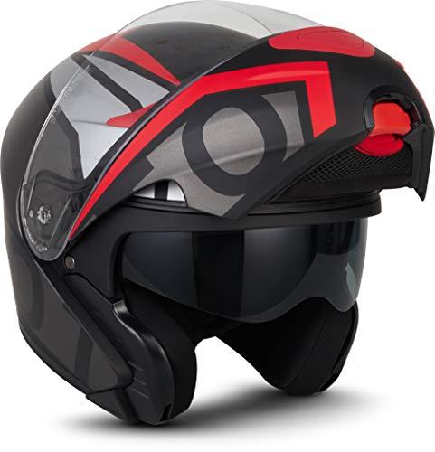 MOTO Helmets F19 - Casco de moto, visera ECE con cierre rápido