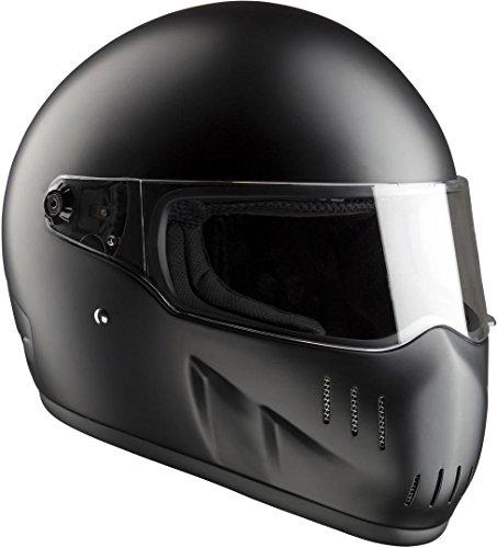 Bandit EXX II - Casco de moto, color negro mate, talla L (59/60)