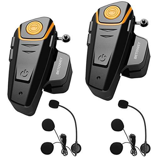 BETOWEY 2X BT S2 Intercomunicador Casco Moto Manos Libres Auriculares Sistema de Comunicación por...