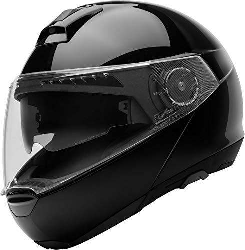 Schuberth - Caso para moto C4DVS Premium Flip Up– Casco Modular - Color amarillo XS / 53 Negro...