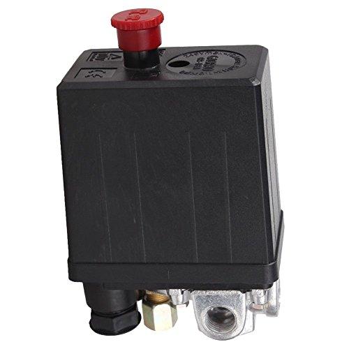 SODIAL(R) - Válvula de control de presostato de compresor de aire de servicio (90 Psi -120 PSI),...