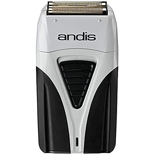 Andis ProFoil Lithium Plus - Maquinilla de Afeitar con Estación de Carga, color Gris y Negro