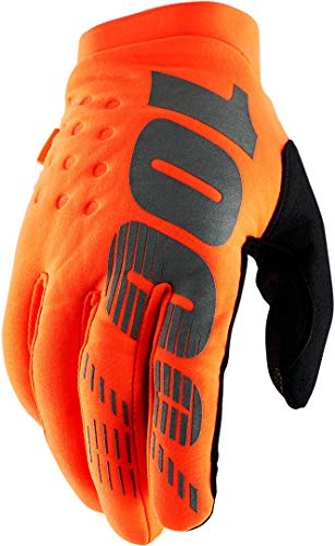 Brini - Guantes para Hombre (100% Juvenil), Color Naranja y Negro, XL