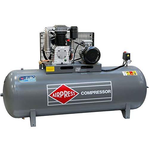 Airpress® HK 1000-90 - Compresor de aire comprimido (5,5 kW, máx. 11 bares, 500 litros de caldera)...