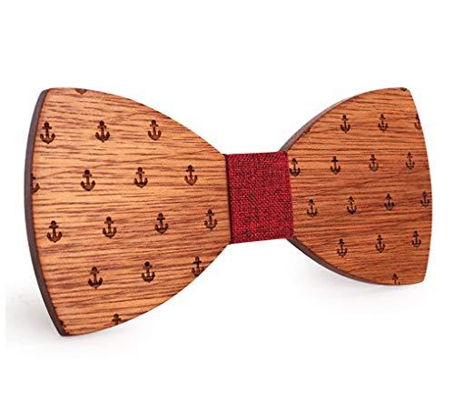 Pajarita de madera con dibujo estampado