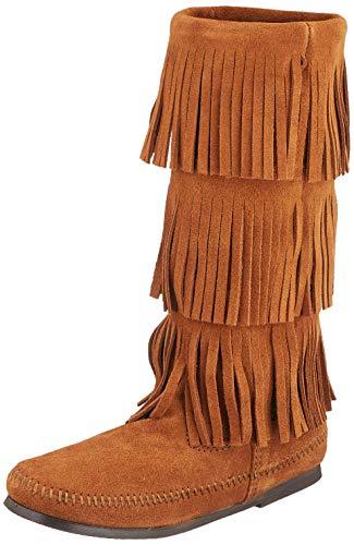 Minnetonka Calf Hi 3-Layer Boot, Botas para Mujer, Brown, 40 EU