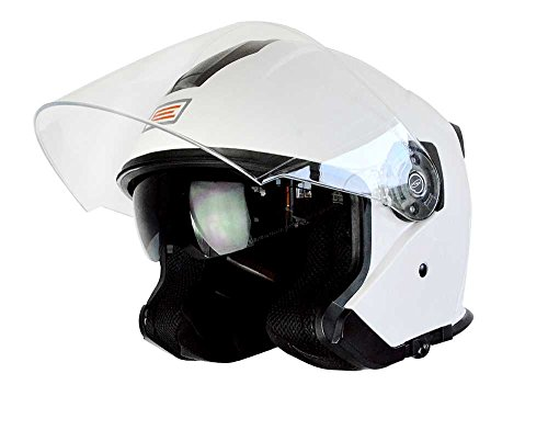 Origine Helmets -Palio Open Face Casco, Blanco, M