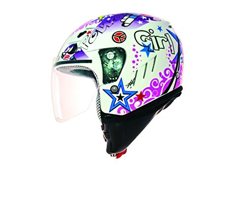 Shiro Casco jet, niños, muy elegante, multicolor, talla XS