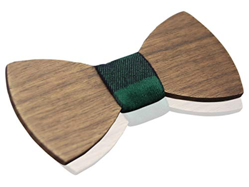 Pajarita de madera sobria/elegante