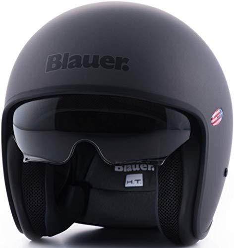 Blauer HT Casco Pilot 1.1 Monochrome, Adultos Unisex, Titanium Matt, Small