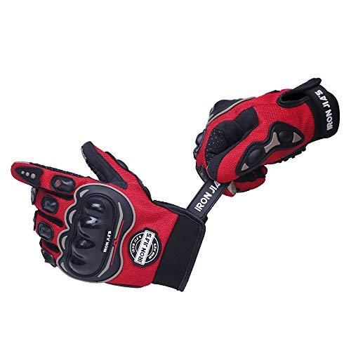 IRON JIA'S Guantes de motos motocicleta para carreras todo terreno, guantes de moto para pantallas...