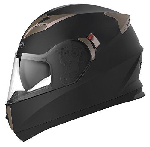 Casco Moto Integral ECE Homologado - YEMA YM-829 Casco de Moto Scooter para Mujer Hombre Adultos con...