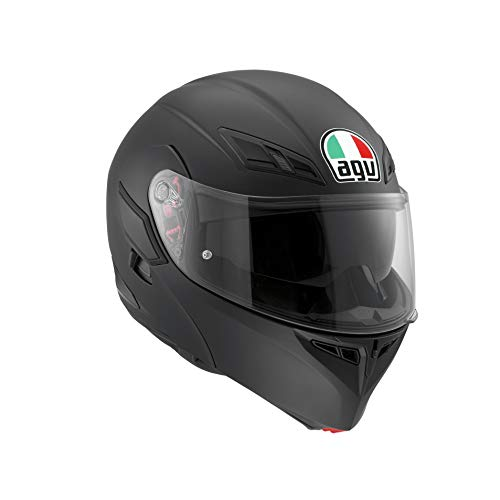 AGV 1021A4HY_003_S Compact ST Solid Casco Modular, Negro Mate, S