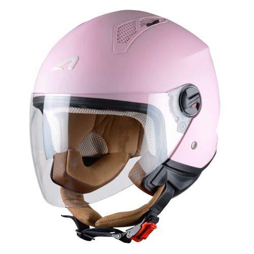 Astone Helmets - MINIJET monocolor - Casque jet - Casque jet urbain - Casque moto et scooter compact...