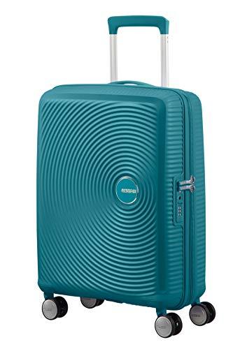 American Tourister Soundbox - Spinner Small Expandable Equipaje de Mano, 55 cm, 41 Liters, Verde...