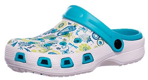 BRANDSSELLER Zuecos de Mujer | Zapato de jardín | Zapatillas | Zapatos de baño | Zapatillas...