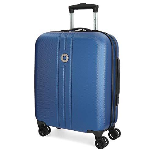 Movom Riga Maleta de cabina Azul 40x55x20 cms Rígida ABS Cierre TSA 36L 3Kgs 4 Ruedas Dobles...