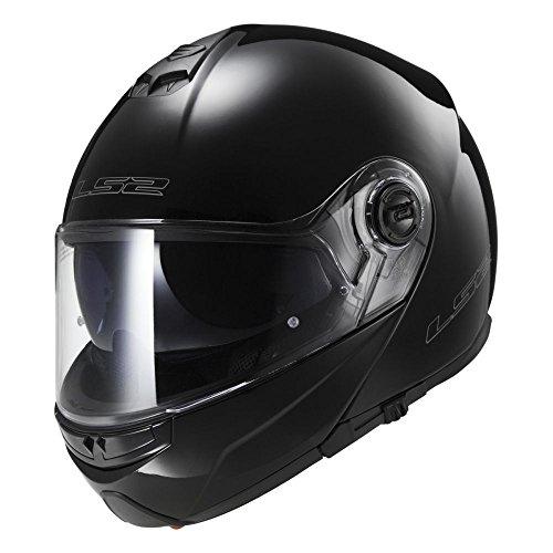 LS2 FF325 Modular Negro Brillo L