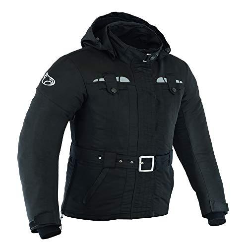 JET Chaqueta Moto Mujer Ligero Textil Impermeable con Armadura TASLAN (M (ES 38), Negro)