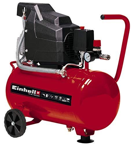 Einhell Compresor TC-AC 190/24/8 (máx. 8 bar, depósito de 24 l, lubricación por aceite, reductor...