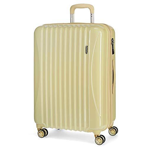 Movom Trafalgar Maleta mediana Amarillo 48x67x26 cms Rígida ABS Cierre TSA 71L 3,8Kgs 4 Ruedas...