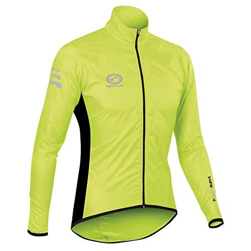 Optimum Chaqueta Impermeable para Ciclismo Nitebrite, Hombre, Verde, M